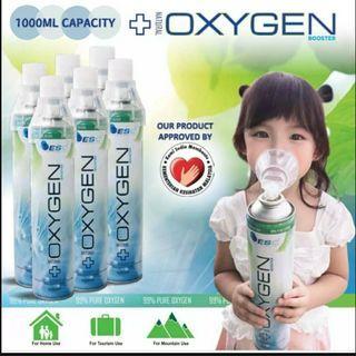 Ready stock portable Oxygen inhaler  spray bottle oxygen supply (1000ml/ Bottle)