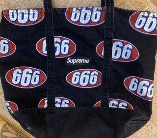 Supreme 666 Tote Bag Black