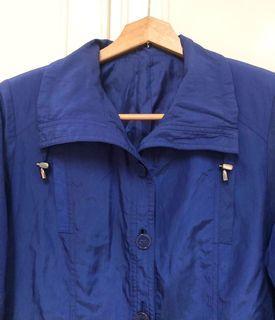 Vintage 日本製藍紫色風衣 薄外套 長袖 翻領 古著 復古 夾克