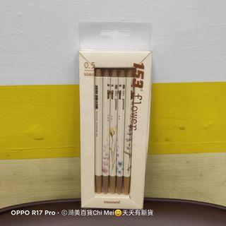 107*全新盒裝153FLOWER自動鉛筆5個一組