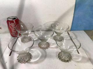 5 pcs vintage 9cm Cocktail Glasses