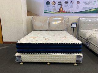 大慶二手家具 新品棒棒糖天絲乳膠交叉獨立筒床墊/床底/床墊/寢具