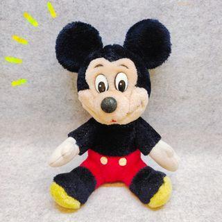 昭和 復古 迪士尼 米奇 米老鼠 絕版 限定 經典款 老物 老臉 玩偶 娃娃 公仔 布偶 毛絨 玩具 正版