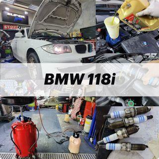 【火炭】寶馬 BMW 118i (E87) 清洗引擎,更換引擎修復偈油,油隔,更換風隔,換波箱油,火咀 Engine Clean, Motor Oil Change, Transmission fluid change, Air Filter, Spark Plugs