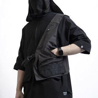 【 Gshop.】賽博朋克機能馬甲男無袖戰術半身坎肩馬夾背心外套