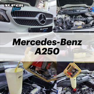 【火炭】平治 Mercedes-Benz A250 (W176) 更換引擎修復偈油 Motor Oil Change