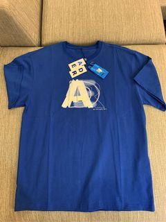 Ader Error 21ss最新款克萊因藍💙幻影重疊字母短袖