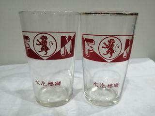 Antique F&N  glasses 2pcs