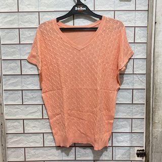 Atasan Rajut Peach Pink (Knitted Top)