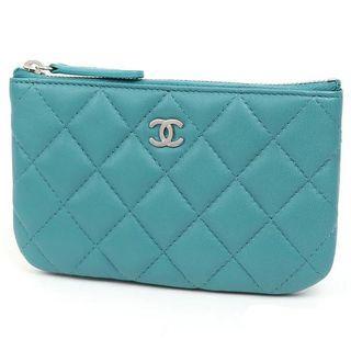 全新Chanel 綠/湖水綠/藍綠 零錢包