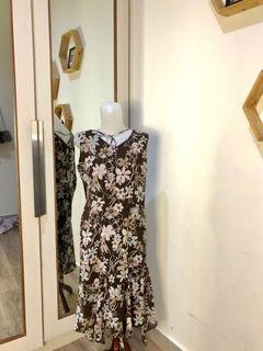 Chiffon floral vintage dress