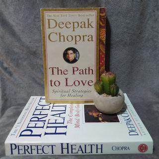 Deepak Chopra The path to love & Perfect health bundle