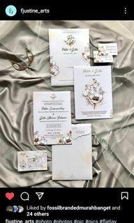 design wedding invitation kartu undangan online sesuai request