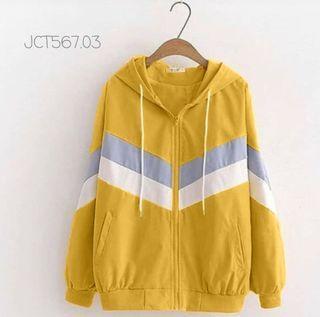 ec JAKET 567JCT MUSTARD l atasan fashion baju sweater kuning wanita