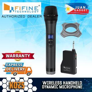 Fifine K025 Wireless Microphone, Handheld Dynamic Mic System for Karaoke Nights, House Parties, Over the Mixer PA System Speakers