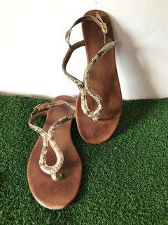 Flats Snakeskin Sandals