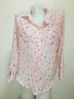 floral pink blouse