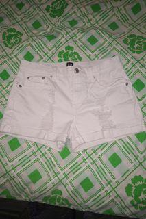 Gap White Denim distressed shorts