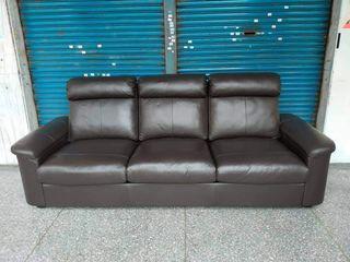 【健利傢俱行】IKEA牛皮三人沙發 近全新 三人沙發 牛皮3人沙發 3人沙發 二手三人沙發 二手3人沙發 IKEA沙發