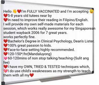 I'm a tutor and I am looking for a TUTEE