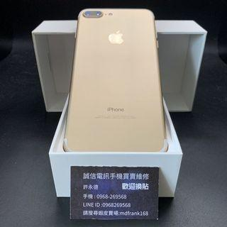 🍎iPhone 7 Plus 32g champagne gold battery 100% with charger #4134