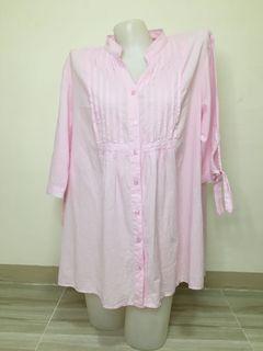 maternity bay pink cotton blouse