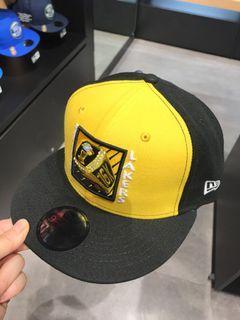 New era 湖人隊 黑黃  運動帽 黃黑版本 板帽LAKERS 全新 後扣可調NE70474407