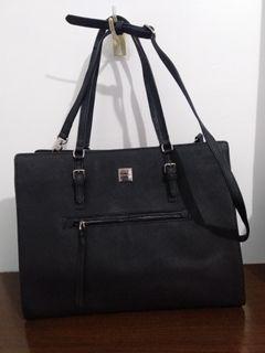 SISLEY 2 way Black Saffiano Bag