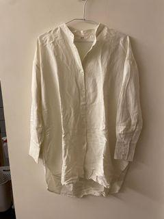 Uniqlo無領扣式襯衫