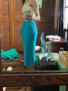 Vintage aqua skirt