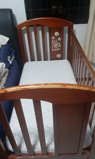 Vintage good quality Solid wood Baby Cot bed extension