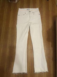Zara White Flare Jeans