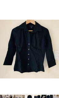 100% Cotton! Original Banana Republic Black Stretch Oxford Shirt