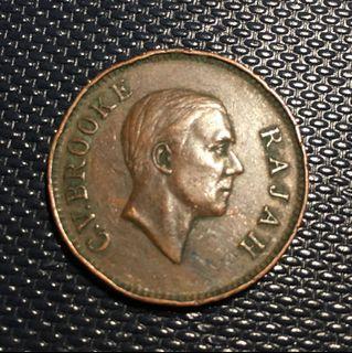 1930H Sarawak 1 Cent - Charles V.Brooke Rajah