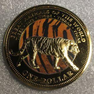 2009 Fiji 1 Dollar - Elizabeth II- Tiger