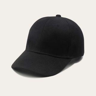 可調節黑色鴨舌帽#集氣