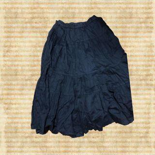 黑色古著長裙 蛋糕裙