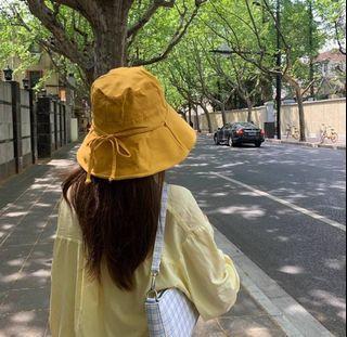 【鬼夢網生活館】日系 蝴蝶結百搭 大帽沿漁夫帽 A57
