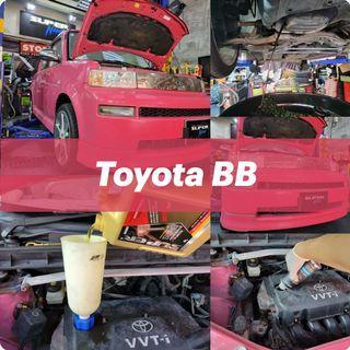 【火炭】豐田 Toyota BB 清洗引擎,更換引擎修復偈油 Engine Clean, Motor Oil Change