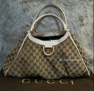 Authentic Gucci GG Canvas Large Shoulder Bag