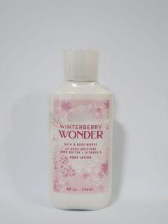 Bath and Body Works Body Lotion- Winterberry Wonder