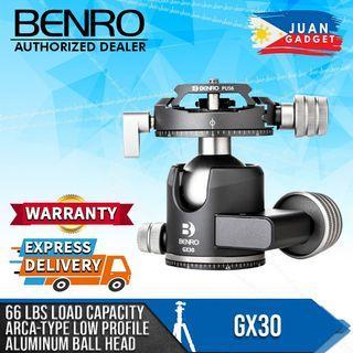 Benro GX30 Two Series Arca-Type Low Profile Lightweight Aluminium Dual Panning Ball Head
