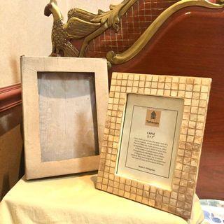 BRAND NEW CAPIZ PICTURE FRAME - WITH BOX (Photo Frame Home Decor Interior)