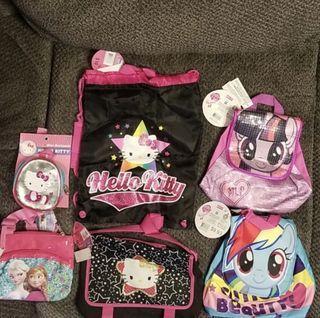 Bundle of kids bags