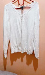 Cardigan putih HNM oversize