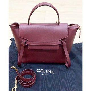 Celine Bag authentic original celine micro belt preloved pl maroon