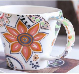 Ceramic Floral Cup