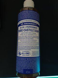 Dr. Bronners Peppermint Pure-Castile Soap 473 Ml