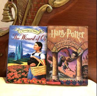 HARRY POTTER AND WIZARD OF OZ SET JK Rowling (Children's Classics Young Literature Fantasy Fairytale)