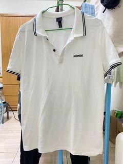 H&M 白色Polo 衫 XL